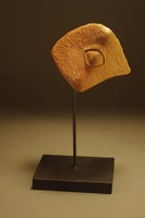 "Eye, 2012, 6""x4""x4"", Pear Wood & Steel"