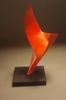 "Kite, 2011, 8""x6""x12"", Painted Forged Steel"