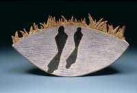 "Edge Of The World, 1996, 12""x22""x5"", Ceramic"