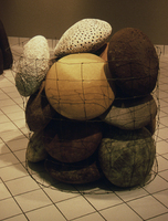 "Pods, 1993, 18""x18""x5"" each, Ceramic"