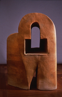 "Keyhole, Window, Doorway, 1992, 50""x36""x36"", Ceramic"