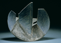 "Three Walls, 1996, 20""x20""x5"", Ceramic"