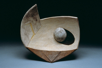 "Ball On White Plain, 1997, 20""x20""x5"""