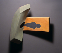 "Orange Tunnel Light, 2002, 21""x22""x10"", Ceramic"