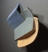 "Blue Green Black Orange, 2003, 27""x20""x8"", Ceramic"