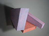 "Two Purple Walls, 2004, 16""x16""x13"", Ceramic"