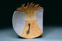 "Fire & Ice, 1996, 21""x18""x6"", Ceramic"