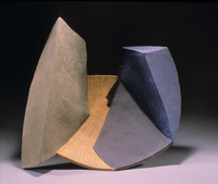 "Half Way Behind, 1999, 18""x20""x6"", Ceramic"