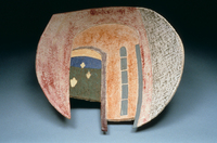 "Looking For Home, 1996, 19""x21""x7"", Ceramic"