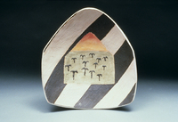 "Field Of Anchors, 1995, 16""x18""x6"", Ceramic"